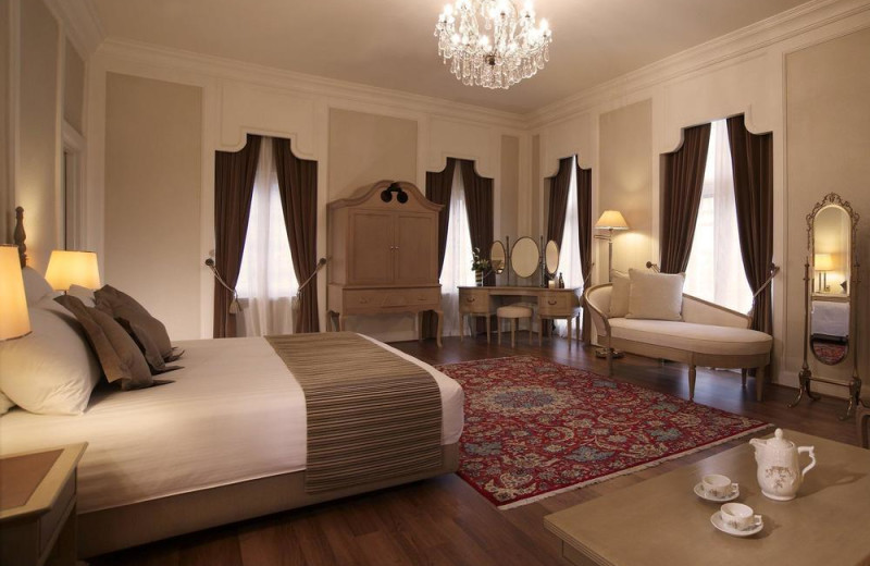 Guest room at Goodwood Park Hotel.
