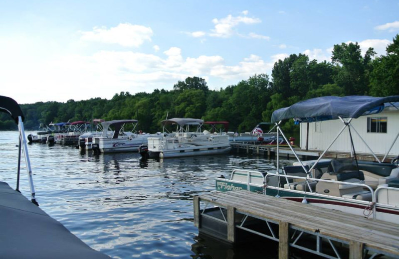 Boats at Mansard Island Resort & Marina.