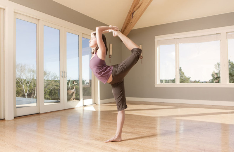 Yoga classes at Travaasa Austin.