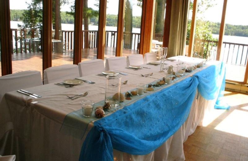 Wedding reception at Westwind Inn on the Lake.