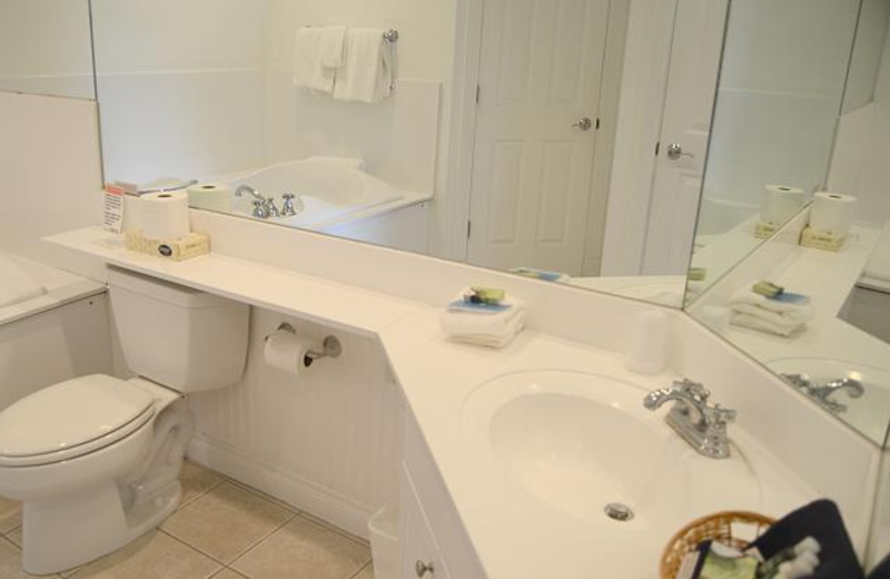 Vacation rental bathroom at The Beach Condominiums Hotel-Resort.