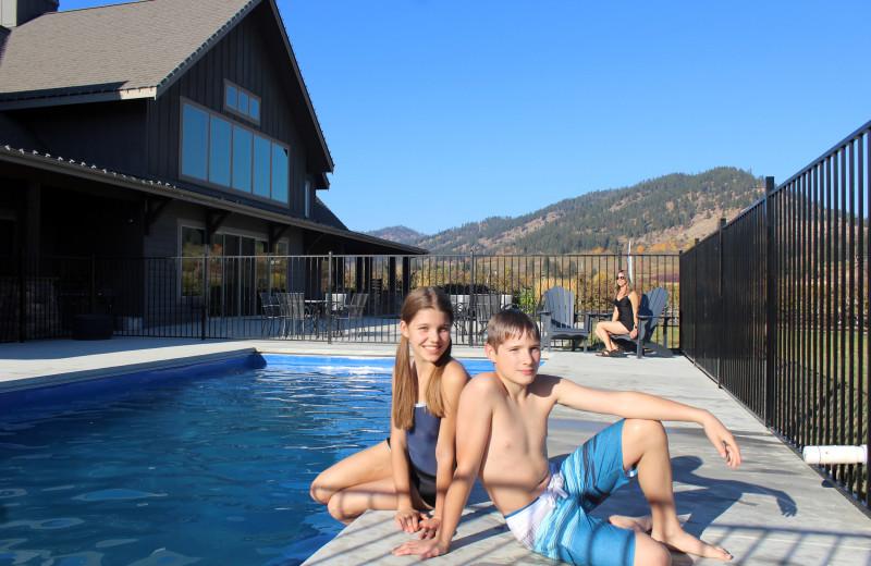 Pool at The Leavenworth Lodge.