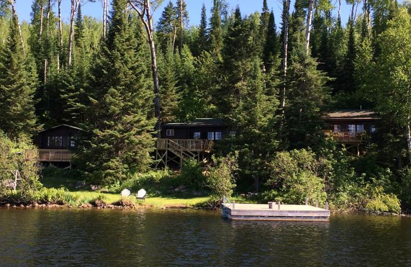 Cabins at Loon Lake Lodge.