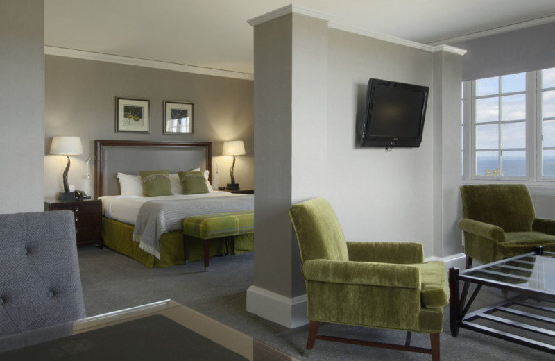 Guest room at Fairmont St Andrews, Scotland.