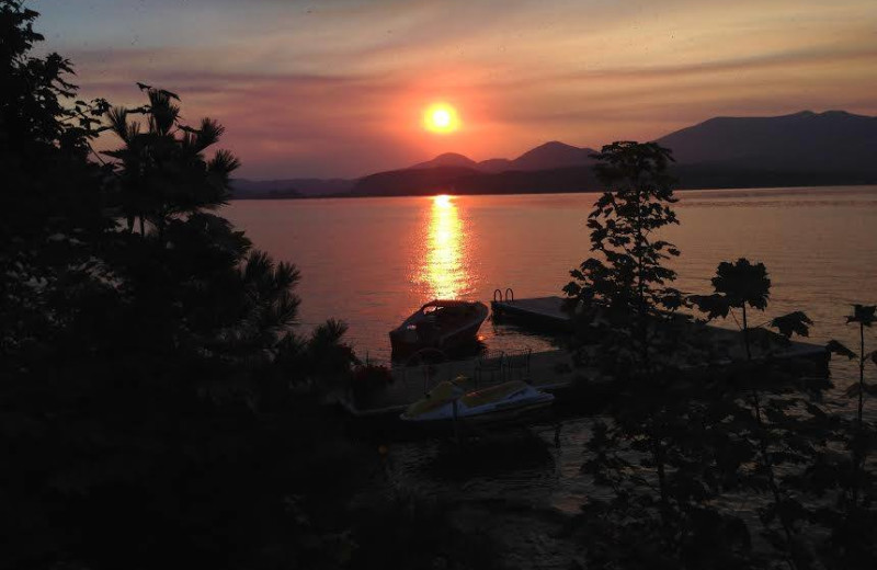 Sunset at Sleep's Cabins.