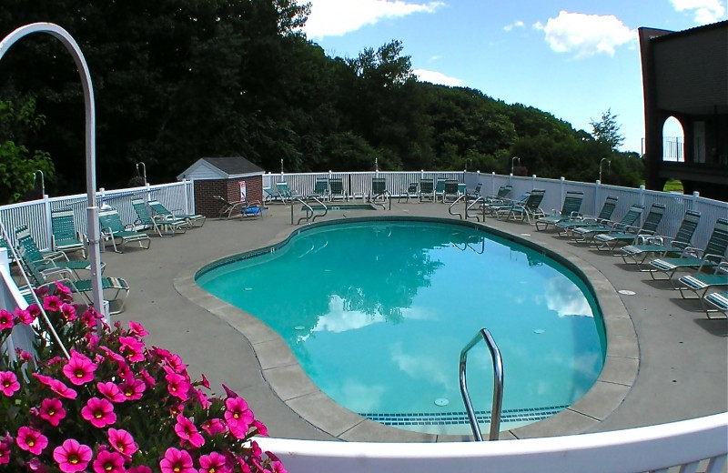 Outdoor pool at Ogunquit River Inn & Suites.
