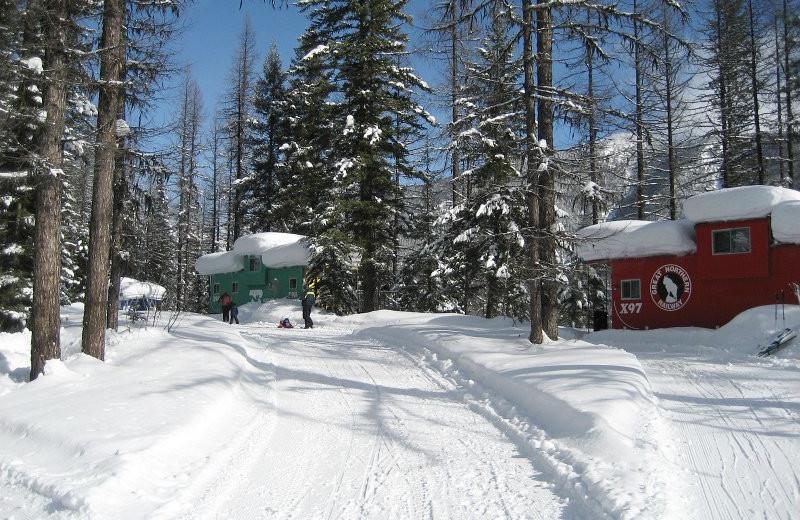 Winter time at Izaak Walton Inn.