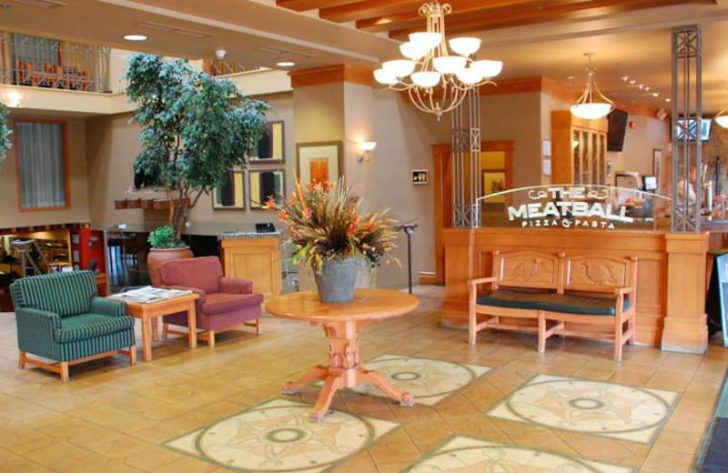 Lobby view at Banff Ptarmigan Inn.