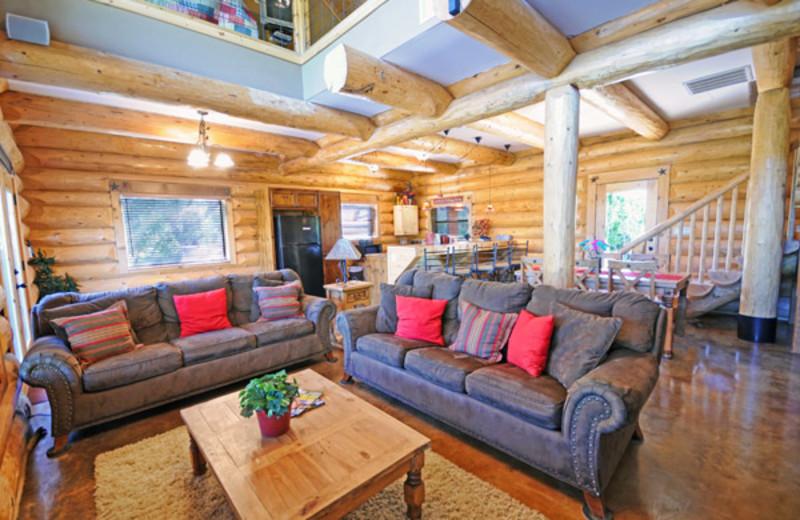 Lodge interior at Log Country Cove.