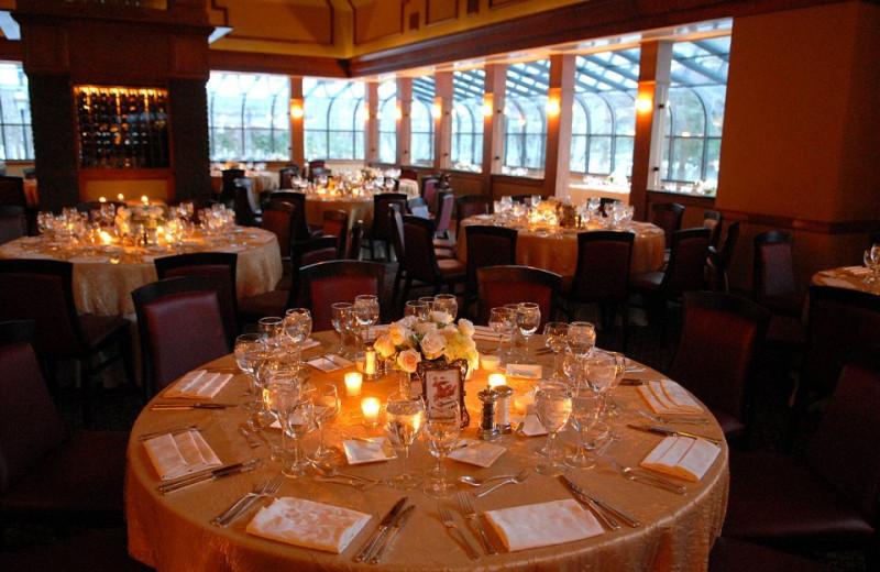 Wedding reception at Stonehedge Inn and Spa.