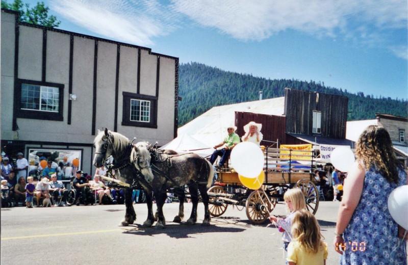 Holiday parade at St. Bernard Lodge.