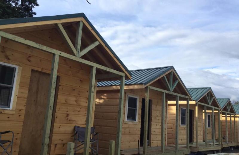 Cabins at Nushagak River Adventure Lodge.