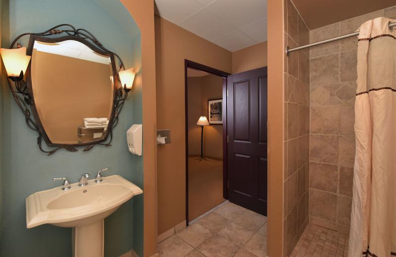 Guest bathroom at Chula Vista Resort.