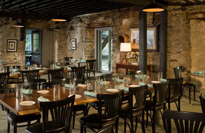 Dining at Ledges Hotel