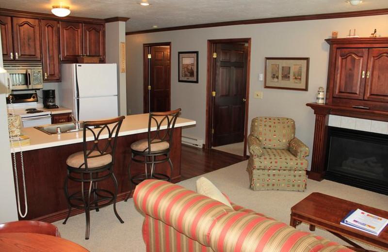 Suite Kitchen Area at Baileys Harbor Resort