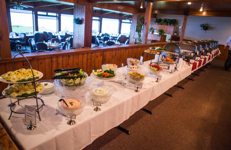 Dining at Adobe Resort.