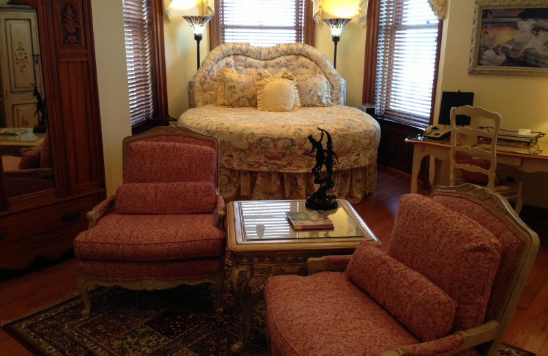 Guest room at Buhl Mansion.