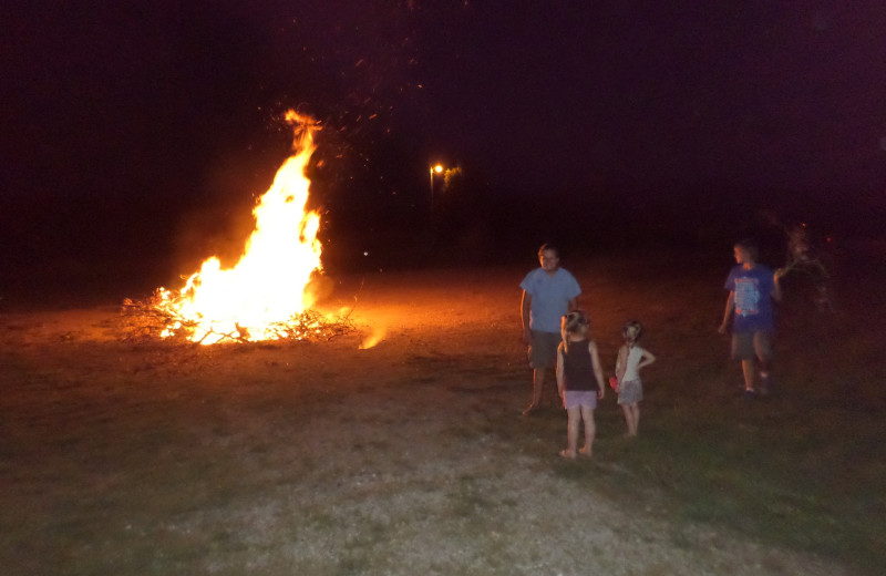 Bonfire at Big Buck Resort.