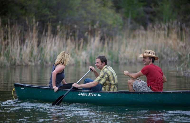 Canoeing at Whispering Oaks Ranch.