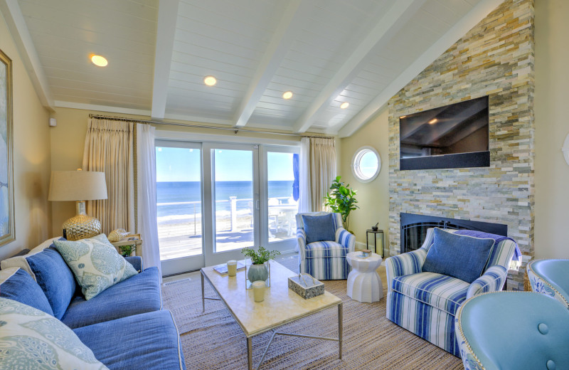 Rental living room at Beach Realty.