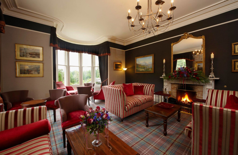 Drawing room at Loch Ness Country House Hotel.
