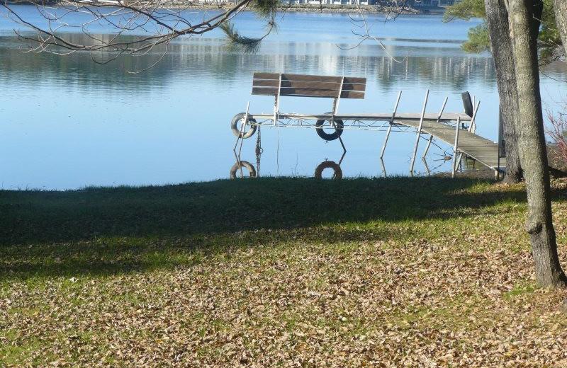 Rental lake view at Sand County Service Company - Little Ponderosa.