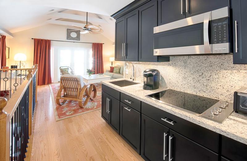 Modern Kitchen in Suite at The Gardens Hotel
