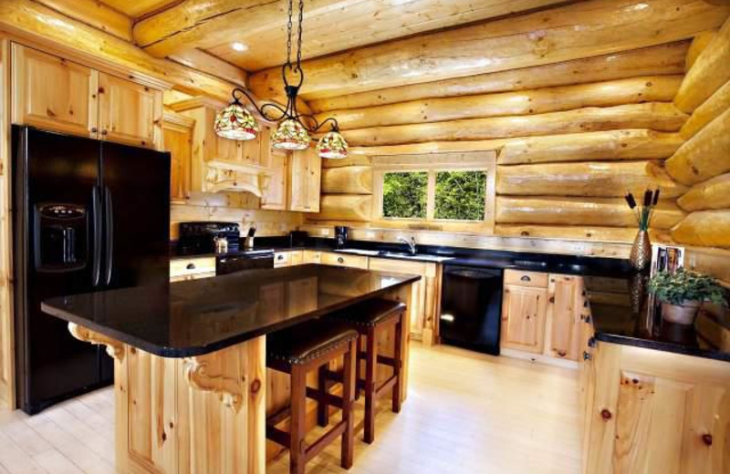 Vacation rental kitchen at Stony Brook Chalets.