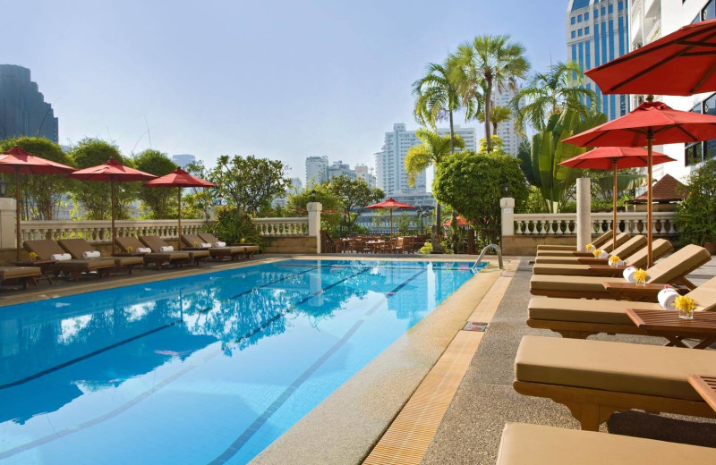 Outdoor pool at Amari Boulevard Hotel.