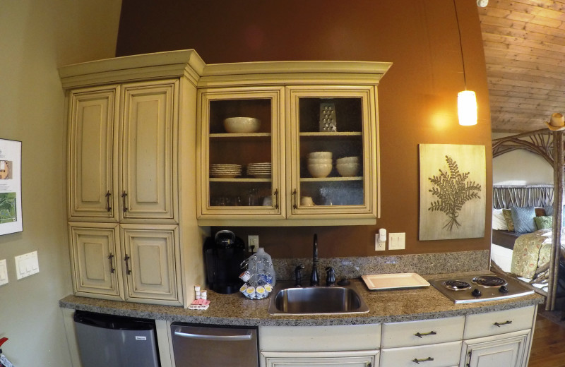 Guest kitchenette at Morrell Ranch.