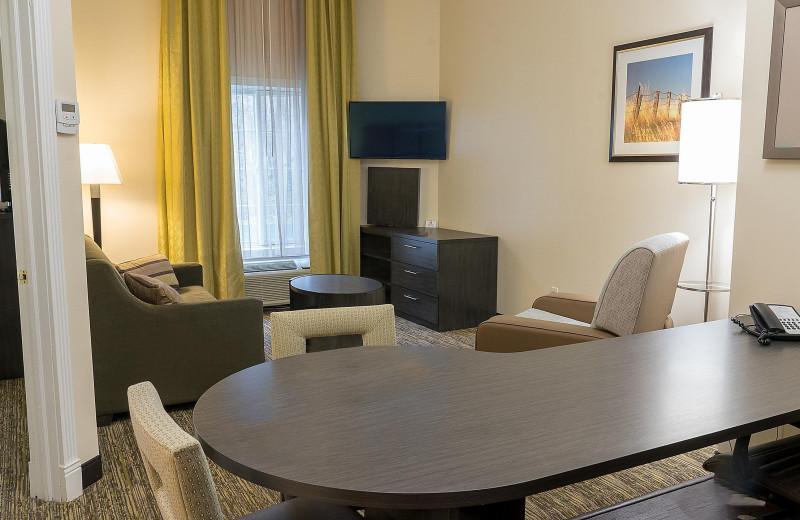 Guest living room at Candlewood Suites - Stevensville.