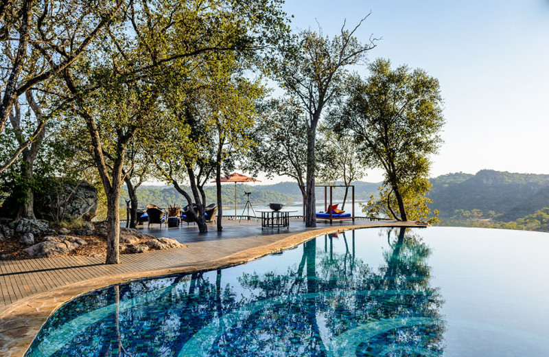 Outdoor pool at Singita Pamushana Lodge.