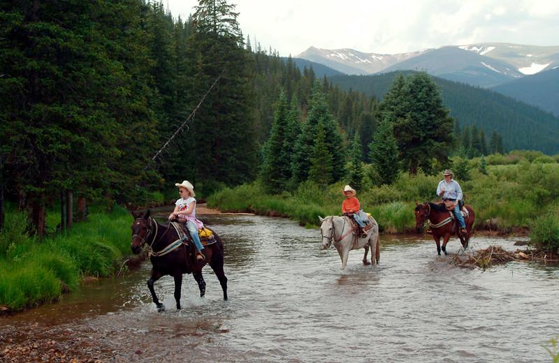 Trail ride at Tumbling River Ranch.