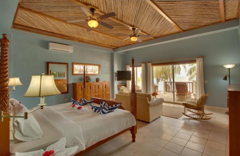 Guest room at Almond Beach Resort.