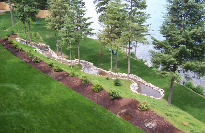 Lake view at The Lodge at Sandpoint.
