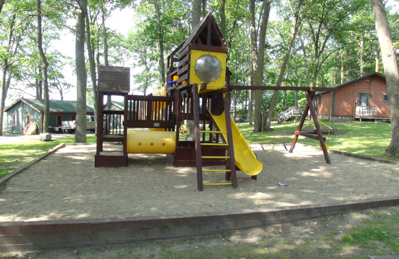 Kid's playground at Acorn Hill Resort.