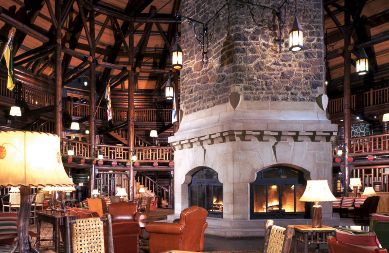 Lobby at Fairmont Le Chateau Montebello.
