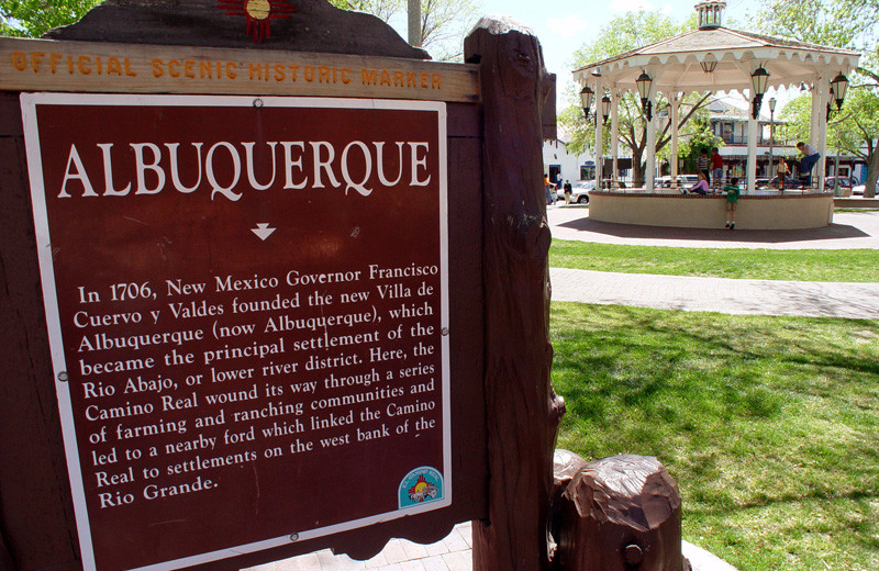 Historic town at Hotel Albuquerque at Old Town.