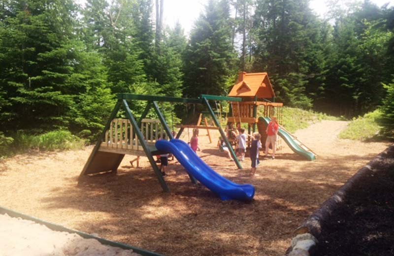 Kid's playground at The Whiteface Lodge.