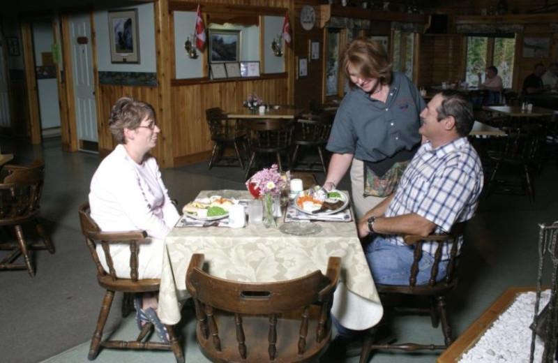 Dining at Adair's Lodge & Cabins.