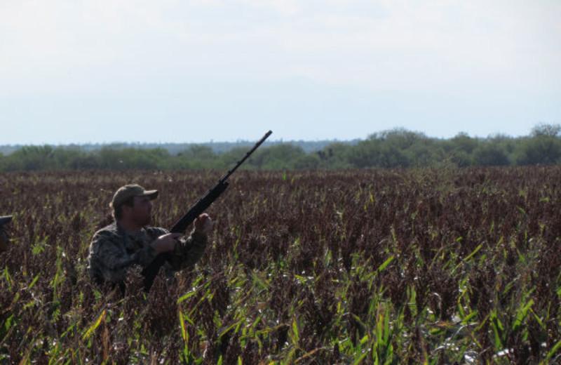 Hunting at Lago Vista Lake Guerrero.