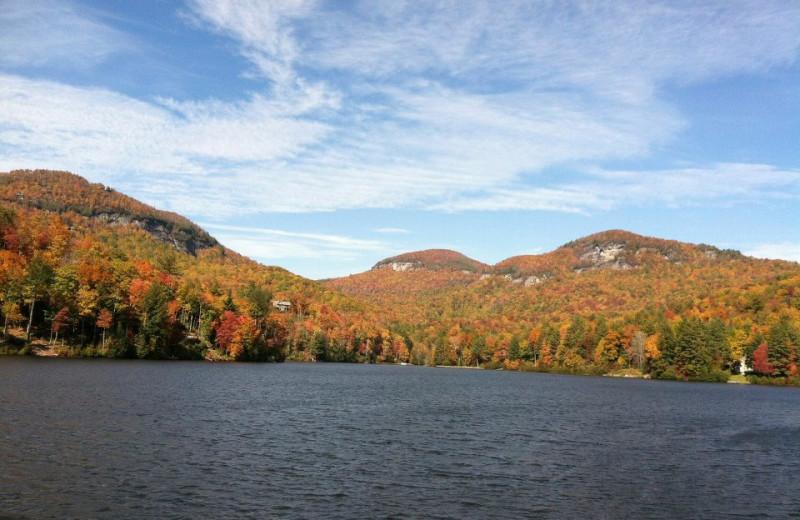 Beautiful lake at The Greystone Inn.