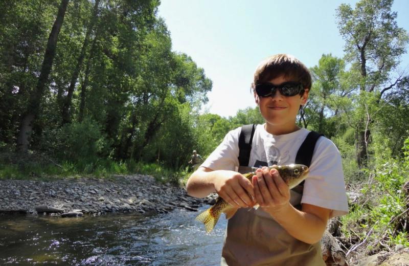 Fishing at Smith Fork Ranch