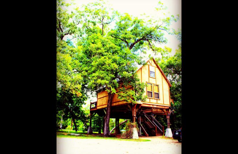 Cabin exterior at Geronimo Creek Retreat.