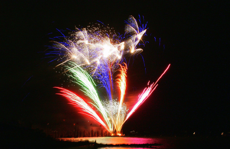 Fireworks near Hilton Suites Ocean City Oceanfront.