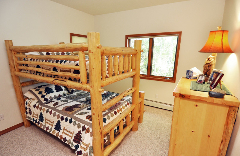 Rental bunk beds at Steamboat Lodging Properties.