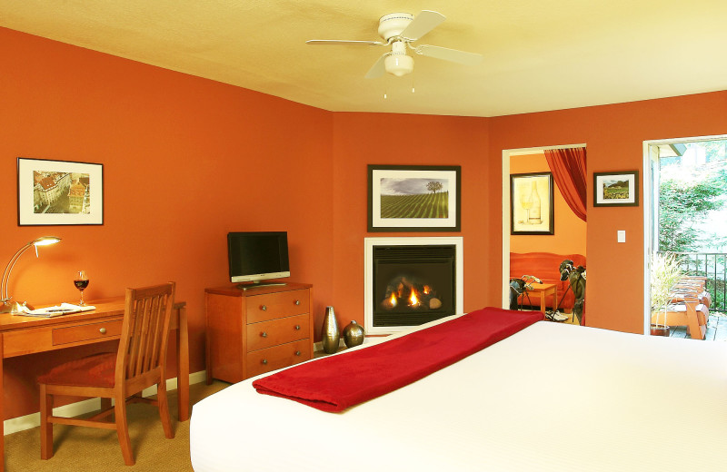 Guest room at West Sonoma Inn and Spa.