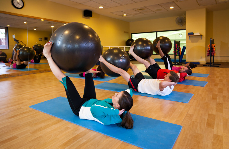 Free group fitness classes at Cheyenne Mountain Resort.