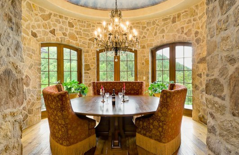 Rental Home Dining Room at Triumph Mountain Properties