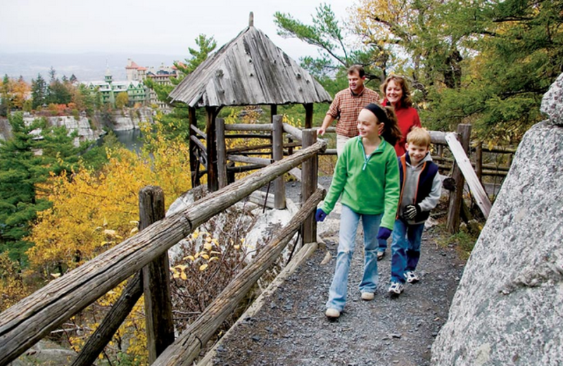 Hiking at Mohonk Mountain House.